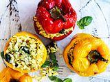 Zucchini-Risotto in der Ofen-Paprika Rezept