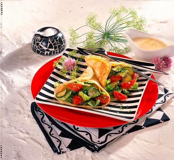 Zucchini-Salat-Crêpes Rezept