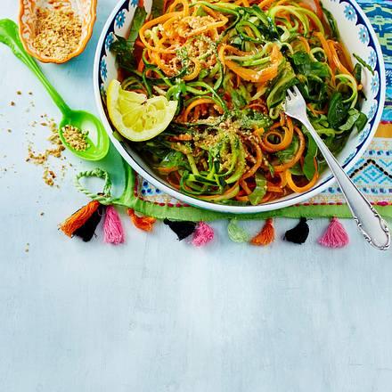 Zucchini & Möhren im Spaghetti-Look Rezept