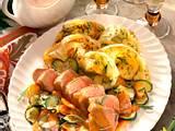 Zucchinicrêpes mit Rosmaringemüse und Schweinefilet Rezept