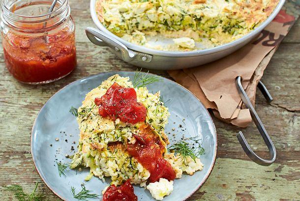Zucchinisoufflé plus Tomatenmarmelade Rezept