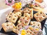 Zuckerkuchen mit Aprikosenkompott Rezept