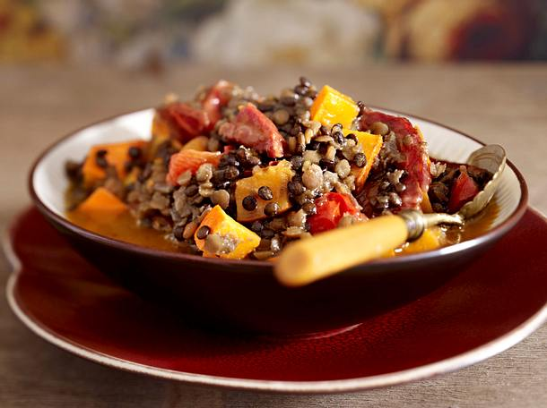 Zwei-Linsen- Kürbis-Chili mit Chorizo Rezept