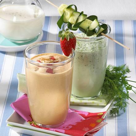 Zweierlei Buttermilch-Drinks Rezept
