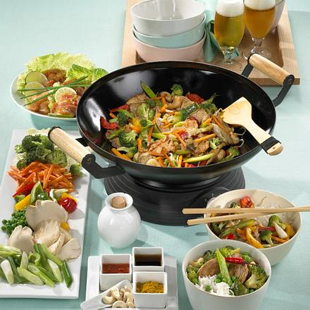Zweierlei Filet & Gemüse aus dem Wok Rezept