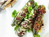 Zweierlei Hasselback-Zucchini Rezept