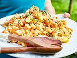 Zweierlei-Kartoffelsalat mit Bacon und Ei Rezept
