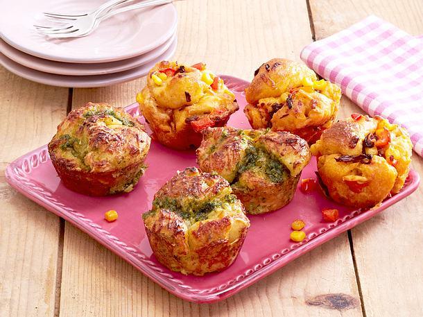 Zweierlei Monkey-Bread-Muffins Rezept