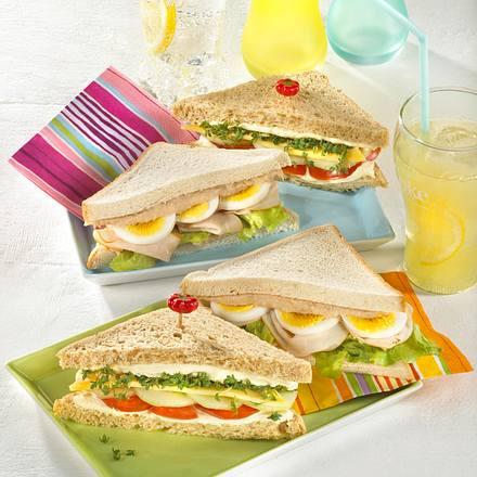 Zweierlei Sandwiches Rezept