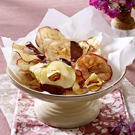 Zweierlei süße Apfelchips Rezept
