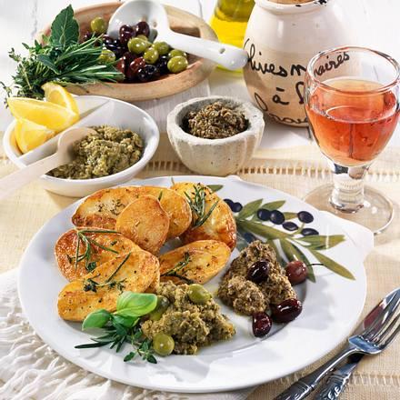 Zweierlei Tapenade (Oliven-Aufstrich) Rezept