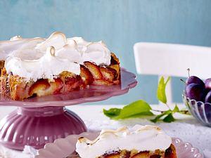 Zwetschgen-Kuchen mit Baiserhaube Rezept