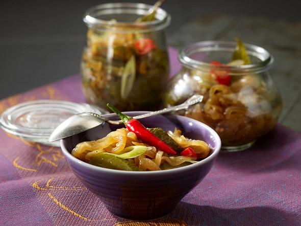 Zwiebel-Gurken-Pickles Rezept