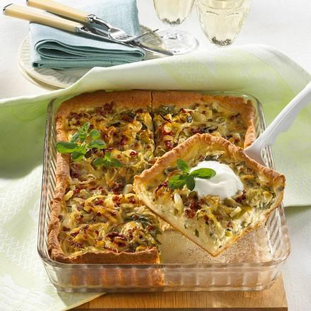 Zwiebel-Lauch-Kuchen Rezept