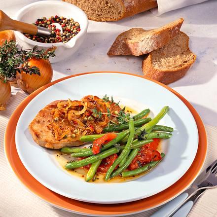 Zwiebel-Pfeffer-Schnitzel (Diabetiker) Rezept