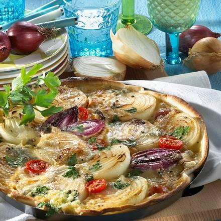 Zwiebelkuchen mit Tomaten Rezept