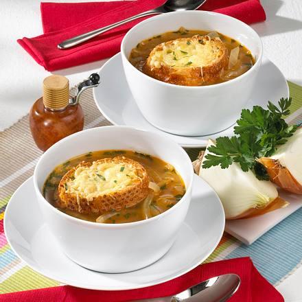 Zwiebelsuppe mit Sherry Rezept